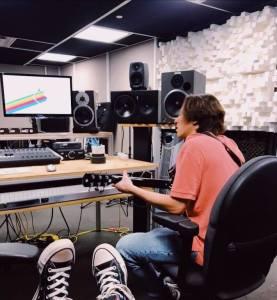 At the Recording Studio!